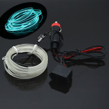 6.5Ft 12V EL Wire Ice Blue Cold light lamp Neon Lamp Car Atmosphere Lights Decor