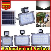 Neu 10W 20W 30W 50W LED Solar Fluter mit Bewegungsmelder/AKKU Außen Strahler