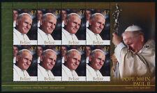 Belize 1186 sheet MNH Pope John Paul II