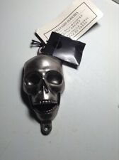 NEW Williams Sonoma Wall Mount Skull Bottle Opener ~ Man Cave Metal ~ w/Hardware