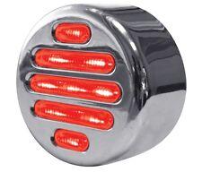 """FLATLINE 2"""" ROUND  LED (9 LED) Red/Clear -  FREIGHTLINER  PETERBILT   KENWORTH"""