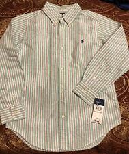 Polo Ralph Lauren Longsleeve Buttondown Green Stripe Shirt Size 7