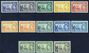 ST. HELENA KG VI 1938-44 Badge of the Colony Part Set SG 131 to SG 137 MINT