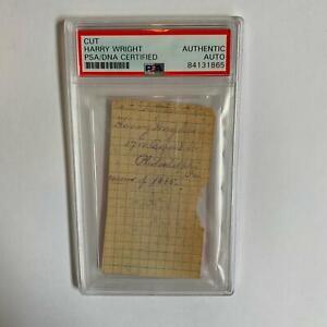 Harry Wright HOF Signed Handwritten 1885 Philadelphia Quakers Lineup PSA DNA