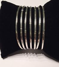 Weekly Stile Bangle 7 Piece Set  Made In 925 Silver / Semanario Martillado