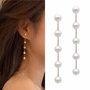 XILALU Fashion Women Alloy Plated Stud Dangle Earings Eardrop Jewelry Silver