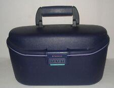 Vintage Samsonite Profile 2 Train Case Makeup Blue Tray Mirror Pageant Travel
