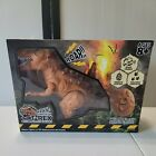 Remote Controlled Walking T-Rex w/ Realistic Sounds - Brown Brand New