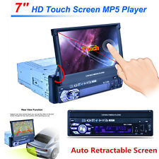 "1 DIN 7"" HD Touch Screen Car Stereo Bluetooth MP3 MP5 Player Radio FM AUX SD USB"