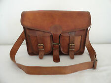 "Genuine Leather 13"" Macbook Pro / Air Messenger Bag Laptop Satchel Crossbody Bag"