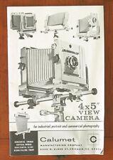 CALUMET VIEW CAMERA SALES BROCHURE/42777