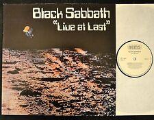 GERMAN PRESSING Black Sabbath Nems 001-1 Live At Last