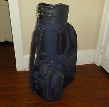 Dark Blue  Divider Top Cart bag With Matching inside shoe carrier bag #6182