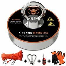 Fishing Magnet Kit Strong 400lb 180kg Pull Gloves Rope Thread Locker Carabiners