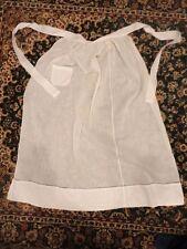 Apron Long Cotton Sheer Delicate Pocket 38 in Long Vintage