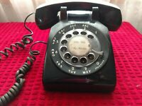South Central Bell Electric vintage Black Desk Phone Telephone dial Rotary