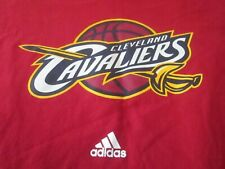 adidas CLEVELAND CAVALIERS Long Sleeve Cotton Shirt Men's Size XL Red EUC