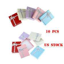 US 10Pcs Jewellery Gift Boxes Necklace Ring Bracelet Display Mixed 9*7cm Lots