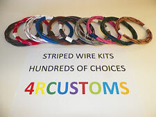 10 AUTOMOTIVE  WIRE 16 GAUGE  GXL TEN COLORS  25' EACH STRIPED WITH 62 + CHOICES