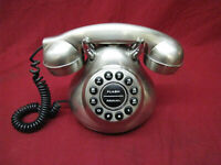 Vintage 1950's Monster Silver Finish Phone