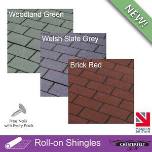 Chesterfelt Roll-On Shingles | Shed Felt Shingles | Square Butt | 8m
