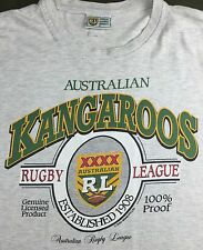 True Vintage 80s 90s Official Australian Kangaroos Rugby League Graphic T-Shirt