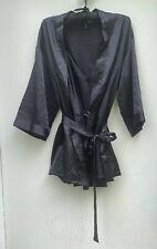 Dreamgirl Ladies Kimono Robe And Nightgown Set, Black. size M (w/Padded Hanger)