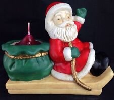 Partylite Santa 'n Sleigh Candle Holder Christmas Holiday Decoration Claus