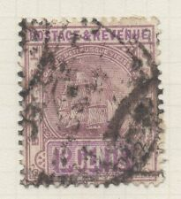 BRITISH GUIANA;  1889 early classic issue used 12c. value