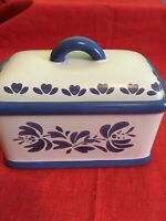 Pfaltzgraff Yorktowne Recipe holder Kitchen Keeper box with Lid NICE