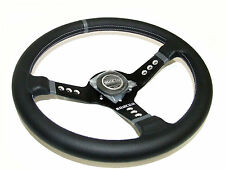 Sparco Steering Wheel - L777 (350mm/63mm Dish/Leather)