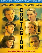 CONTAGION BLU RAY & DVD MOVIE COMBO PACK 2 DISC SET MATT DAMON JUDE LAW FREESHIP