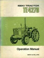Iseki Tractor TE4270 Operators Manual