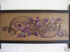Antique style,violets sampler embroidery Kit.