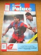 24/10/1989 Crystal Palace v Nottingham Forest [Football League Cup] (Slight Fold