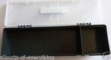 2 X Estuche Caja Hobby Craft 30cm X 10cm Transparente Organizador De 2 compartimentos