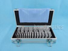 22pcs Optical prism bar set Aluminum case New