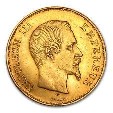 1855-1859 France Gold 100 Francs Napoleon III Avg Circ - SKU #44655