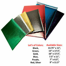 Metallic Glamour Bubble Mailers Padded Envelopes Bags 25 Pcs Choose Size Amp Color