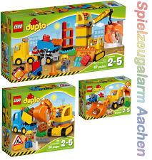 LEGO DUPLO SET 10811 10812 10813 Baggerlader Bagger Lastwagen Baustelle N9/16
