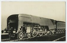 Streamlined Steam Train Railway Locomotive L.N.E.R. RP Postcard A15
