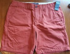 Abercrombie & Fitch Men's Red Flat Front Preppy Fit Shorts size 31, Never Worn