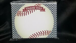 Koko Paper Baseball Thank You Cards 25