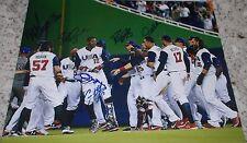 2017 USA Team Signed World Baseball Classic CHAMPIONS Photo STANTON YELICH DUFF