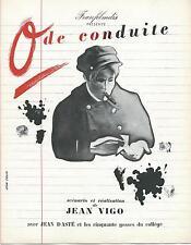 0 de CONDUITE -1933/34 - J.VIGO - RARE- FRANFILMDIS - J.DASTE