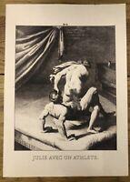 """Agostino Carracci 1557-1602 """"Julie avec Athlet"""" bei der sexuellen Vereinigung"""