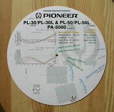 Pioneer PL-30/PL-30L, PL-50/PL-50L & PA-5000 Tonearm Stylus Alignment Protractor