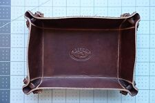 "NEW Valet tray in the EXECUTIVE leather series 6"" x 8"" American Executive leathe"