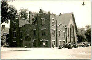 1940s HOLLAND, Michigan RPPC Real Photo Postcard 1ST REFORMED CHURCH Street View