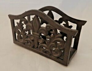 Cast iron letter rack Rustic ornate style Freestanding Letter holder UK SELLER